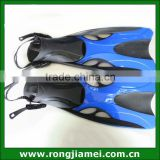 Blue colors adjustable sizes suf diving swim fins