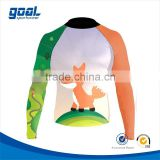Wholesale high quality polyester spandex custom printed sublimated kids rash guards                                                                         Quality Choice