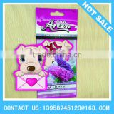 cute dog shaped long lasting scent car paper perfume card