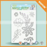 New product waterproof peel and stick mirror sticker wall sticker