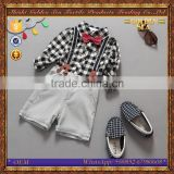 newest boys shirt and suspender trouser fashion kids clothing