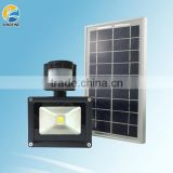 Factory price high quality 10w pir sensor led floodlight solar flood led light SFL10WCOB-PIR