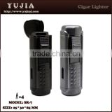 Premium durable cigar torch lighter cigarette lighter for flame portable cigar lighter with puch/cutter