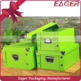 Foldable paper storage box, home clothes folding storage box, multipurpose toy storage box with lid