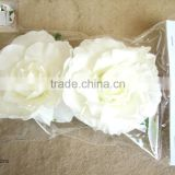 Cream Colorful Foam loose rose artificial flowers with good metal clip for wedding bridesmaids