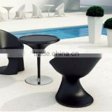Shenzhen event cafe bar white plastic furniture- cheap black plastic table and chairs wholesale