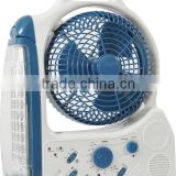 led rechargeable emergency light with fan,radio