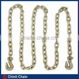 Grade 70 transport binder chains with clevis grab hook each end, Australia standard