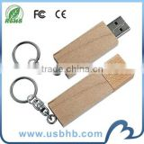 promotional wooden usb flash drive with key chain wholesale