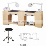 84019 double Manicure Table, Nail Desk,Nail Table nail salon manicure table for 2 people operating