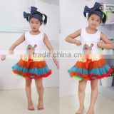 Children Clothing! Whosales Children's Clothing set, Fall Autumn Thanksgiving day top with ruffle skirt