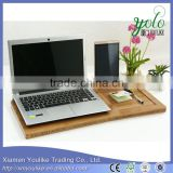Natural bedroom laptop desk bamboo laptop desk