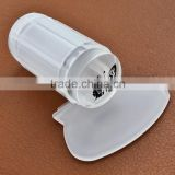 Wholesale round soft Clear Jelly Silicone nail stamper with cap and credit card shape scraper for nail art stamping