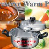 cookware kitchenware cooking tools utensils stainless pot preserve warmth container pottery pan kettle 18cm 75538