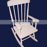 LY001 Customized Antique White Wooden Rocking Chairs For Kids
