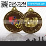 Design your own custom Metal Crafts production zinc alloy blank gold award metal sport medals and trophies
