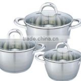 6pcs clad 201 Stainless Steel restaurant industrial pressure cookers