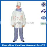 hotel chef uniform/High Quality Chef Uniform/Restaurant Uniforms+custom make coat&wholesale stock coat for halloween cosplay
