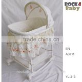 Hotsale Baby sleep Cradle Baby Bassinet with rocker