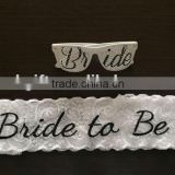 Amazon best seller hen party set embroied lace sash & bride to be crazy party glasses