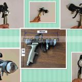 hvlp chrome plating double nozzles spray gun with adjustable nozzle size 1.2mm-1.5mm