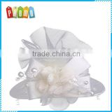 European and American small white hat clip pearl bridal hair accessories flower head luxury performance