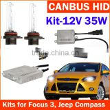 Wholesale HID Conversion kit, xenon kit with Canbus slim ballast 35W and Xenon bulb H1, H3, H7, H11, 9005, 9006 for F.ocus 3