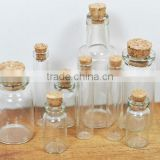 Colored cork art custom jar 100ml glass bottles wine cork stopper
