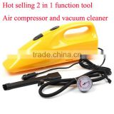 2 in 1 vacuum cleaner car air compressor vacuum cleaner for car tyre inflator air compressor