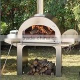 Professional Stainless Steel Looking Wood Pizza Oven