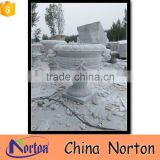 high quality white marble cemetery flower pot NTMF- FP204X