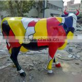 hot sale promotion resin craft fiberglass life size cow statue