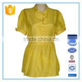 Fashion Golden Colour Blouse Designs Ladies Formal Shirt Design