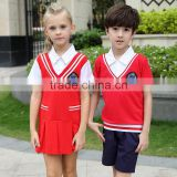 Juqian China uniform manufacturer custom-made stylish red autumn summer kindergarten school uniform