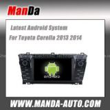 Android 4.4 car radio for Toyota Corolla 2013 2014 wifi 3g indash head unit car audio player gps navigation auto parts
