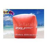 Square Inflatable Buoy For Sea , Logo Printing Red Inflatable Vinyl Buoys