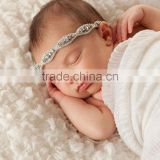Style Custom 100% Handmade Elastic Hairband Ivory Bridal Crystal Headbands