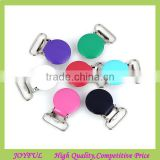 Colorful suspender clips with plastic teeth