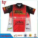 sublimation custom motorcycle top&shirt/leather motorbike racing suit/team motorcosse polo design