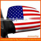 Custom fan American car mirror cover flag