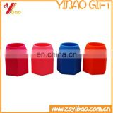 Custom shape and logo colorful silicone rubber pen holder / pen container from China factory
