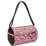 waterproof polyester dance is in my heart duffel bag