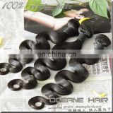 Tangle free and no shedding thick soft gloosy unprocessed malaysian hair weave bundles