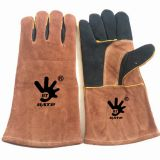 Fully Lined Highest Heat Protection Large Premium Leather Welders Gloves