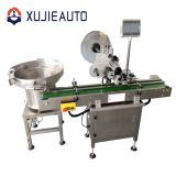 automatic plastic caper top side sticker flat surface labeling machine