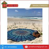 Indian Mandala Round Roundie Beach Throw Tapestry Hippy Hippie Boho Gypsy Cotton Tablecloth Beach Round tapestry rug and carpet