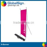 Shanghai GlobalSign adjustable pop display stand X banner                                                                         Quality Choice