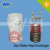 Easy installation titanium tube coil for heat exchange for aquarium heating&chilling machiner