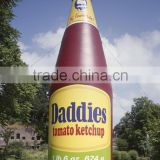 tomato ketchup' giant inflatable bottle for decoration