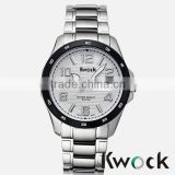 Hot sales mens stainless steel watch add calendar function